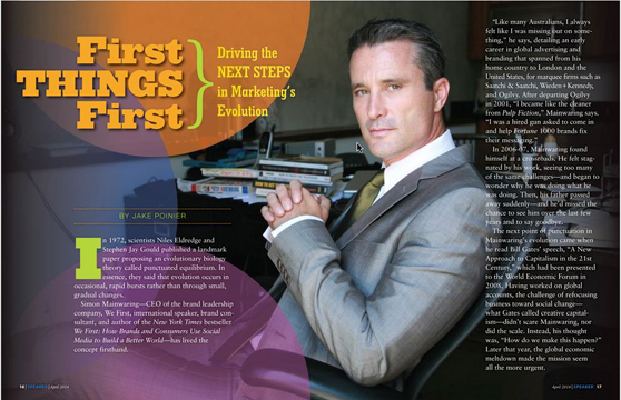 Simon Mainwaring Speaker Magazine